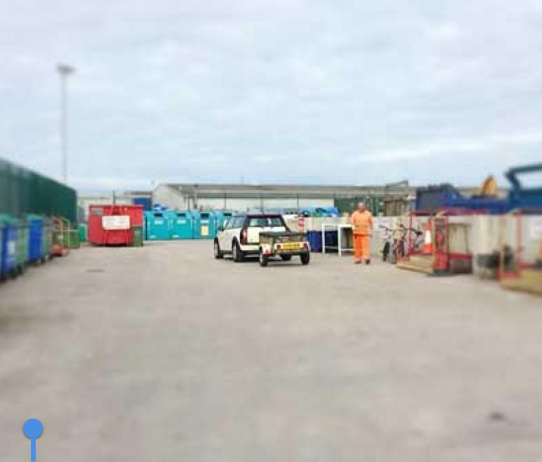 Local authority hwrc best practice denbighshire council for Household waste recycling centre design